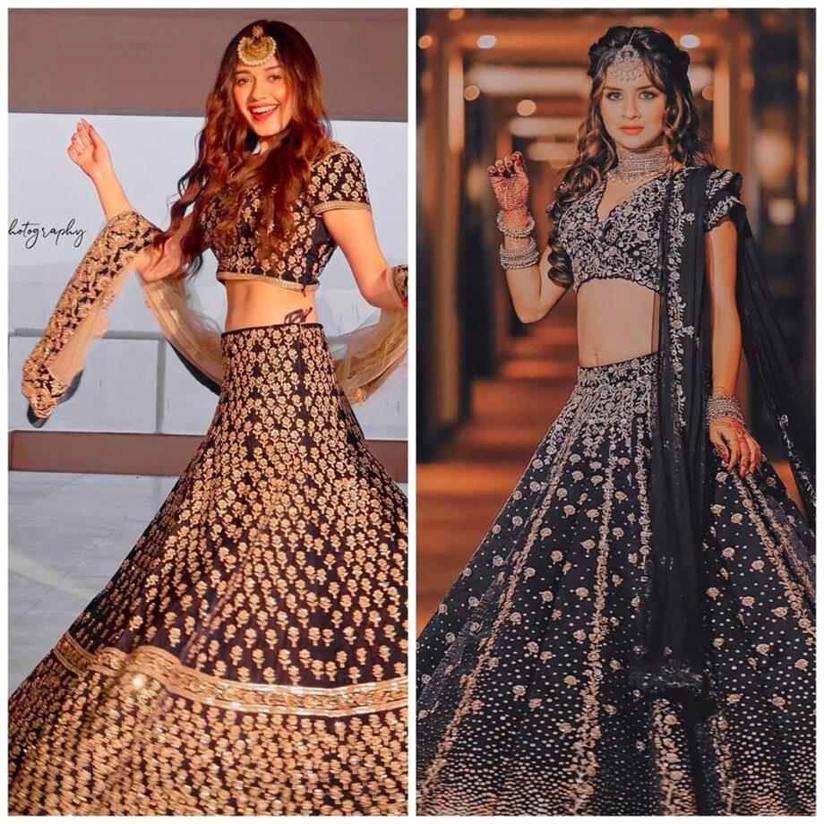Jannat Zubair VS Avneet Kaur: Who Stuns In Classy Embellished Blue Lehenga With Maangtika? 1