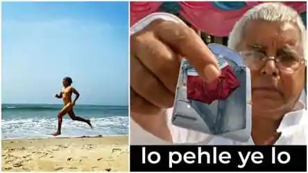 Milind Soman runs 'nude' on beach to celebrate 55th birthday, internet gets bombarded with hilarious memes 1