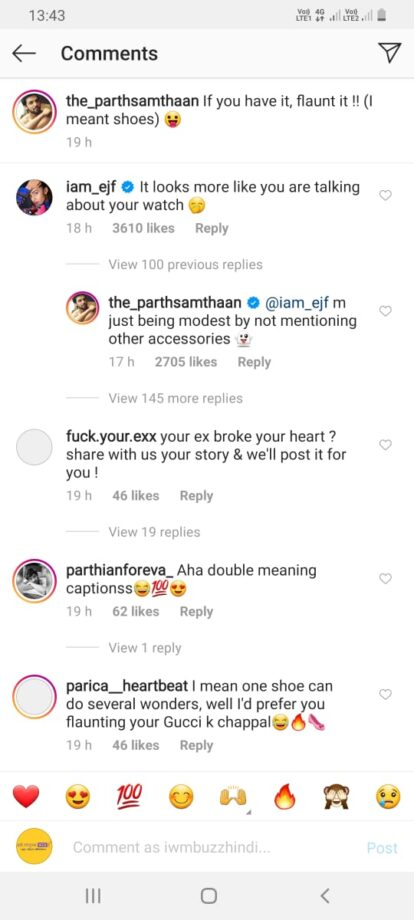 Parth Samthaan flaunts it, Erica Fernandes checks it out