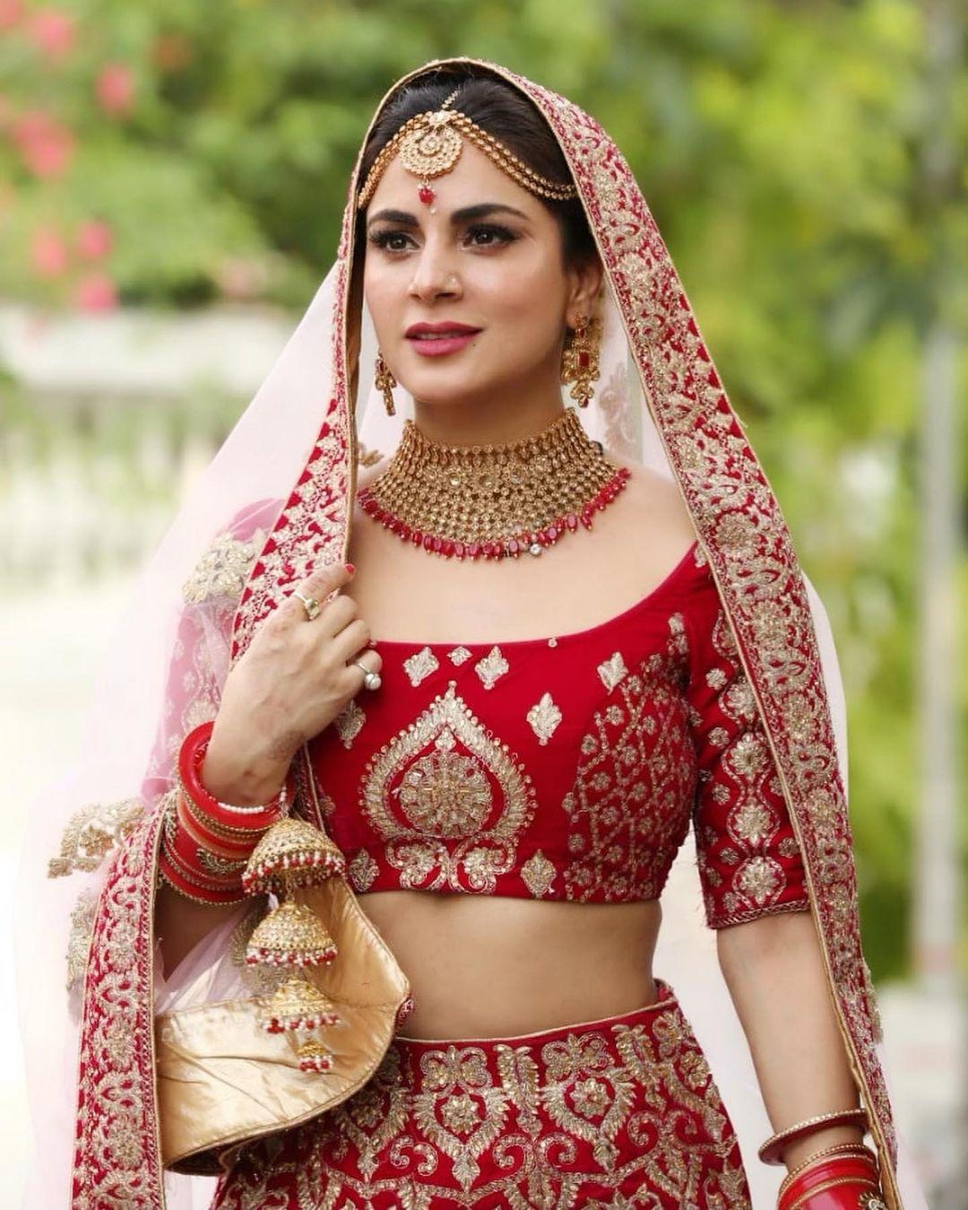 Shraddha Arya, Mouni Roy, And Kaveri Priyam's Bridal Outfit Goals