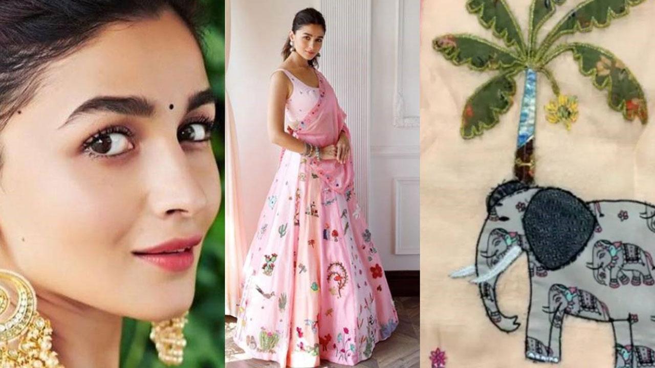 Take A Look At The Creative Lehenga Of Alia Bhatt Which ...