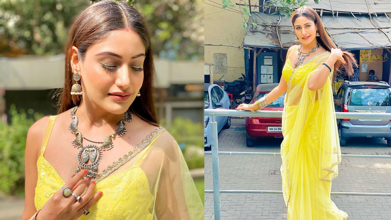 Photo of [Sexy Pictures] 'Golden Sunflowers Inside' Surbhi Chandna is a 'sunflower' as she stuns in sexy yellow saree | IWMBuzz