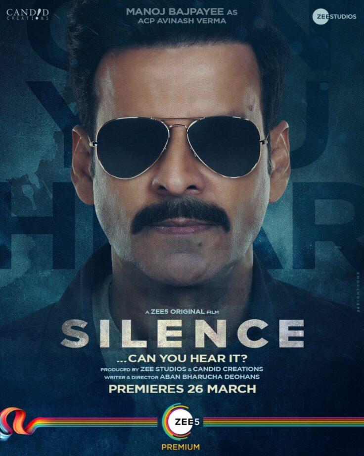 Big News: Manoj Bajpayee, Arjun Mathur and Prachi Desai starrer 'Silence... Can you hear it?' premieres 26th March 2021 on ZEE5   IWMBuzz