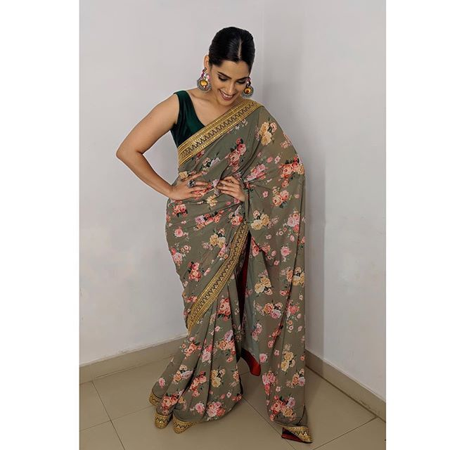 Attend A Summer Wedding with This Floral Saree of Priya Bapat | IWMBuzz