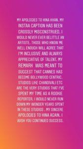 कान्स 2019: फिल्मफेयर एडिटर जितेश पिल्लई ने हिना खान से माफी मांगी 1