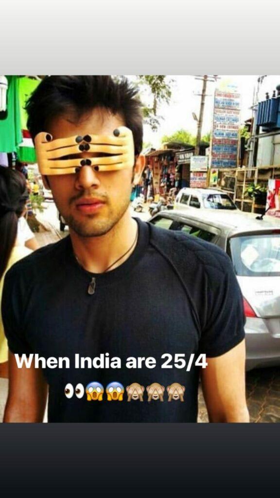 न्यूजीलैंड के खिलाफ <a href='https://shabd.in/hashtag/bharat'>भारत</a> के सेमीफाइनल मैच में पार्थ समथान की प्रतिक्रिया 1
