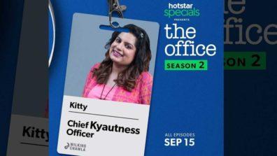 कॉमेडियन मल्लिका दुआ हॉटस्टार स्पेशल द ऑफिस सीजन 2 में चीफ क्वाटनेस ऑफिसर के किरदार में