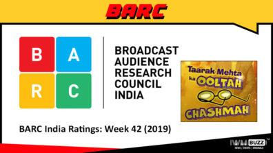 बी ए आर सी इंडिया रेटिंग: सप्ताह 42 (2019);  तारक मेहता का उल्टा चश्मा चार्ट में सबसे ऊपर है